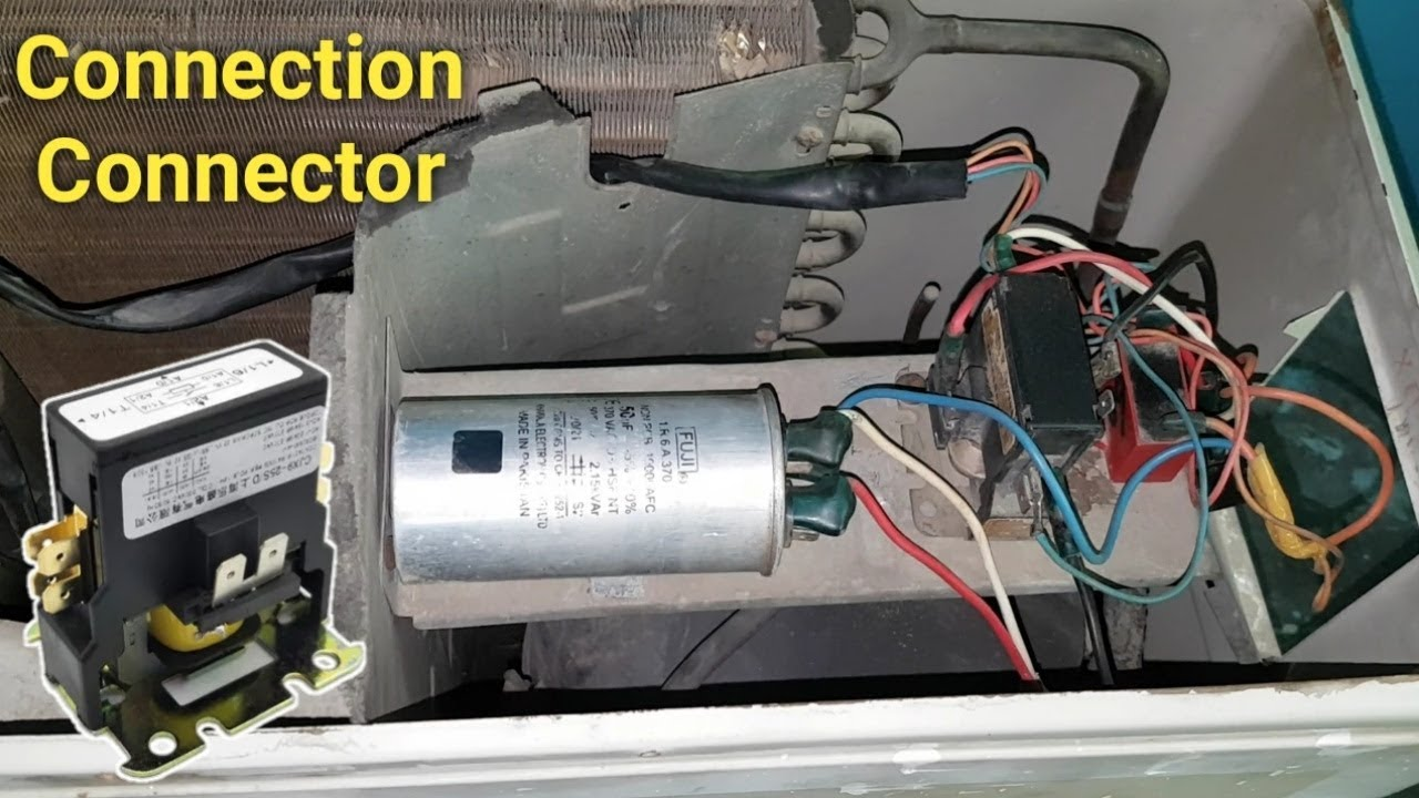Air Conditioner Magnetic Contactor Full Wiring Connection Outdoor Unit
