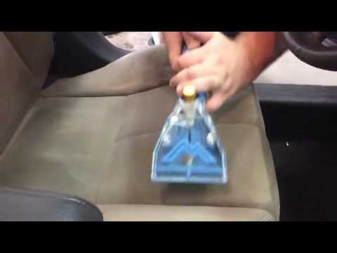 Car Interior Seats Cleaning - Hot Water Upholstery Extraction