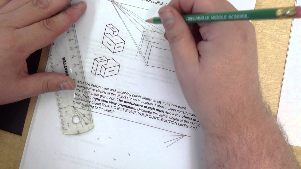 IED Activity 2.2 Single Point Perspective tutorial - YouTube