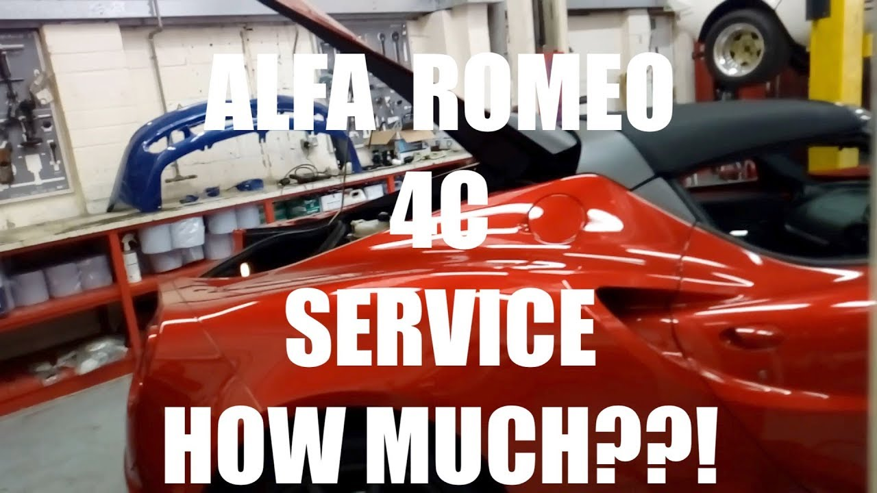 how much does it cost to service my alfa romeo 4c spider youtube. Black Bedroom Furniture Sets. Home Design Ideas