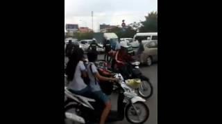 Traffic accident in Cambodia 2016