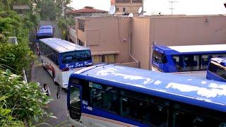 おやすみの前に… 大型バス   九州産交観光バスさんの貸切バス転回車庫入れ風景19分 総集編 リマスター版 睡眠導入 #1