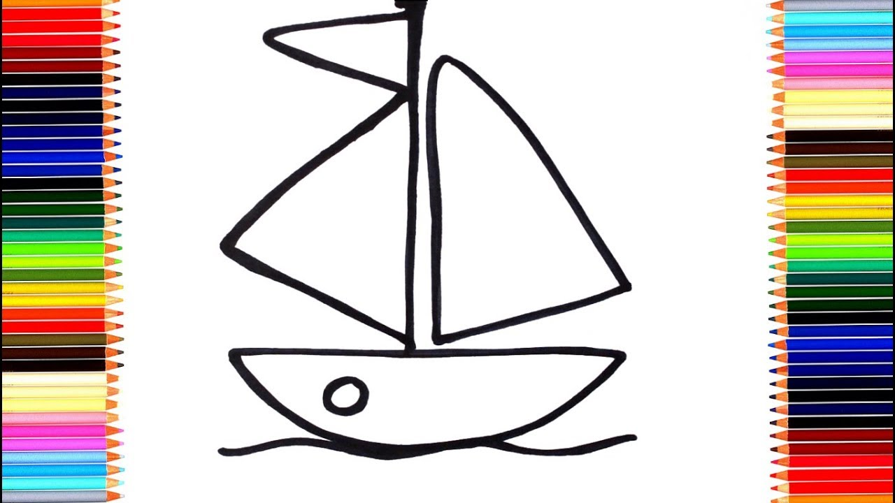 Как нарисовать кораблик/ мультик раскраска кораблик для ...