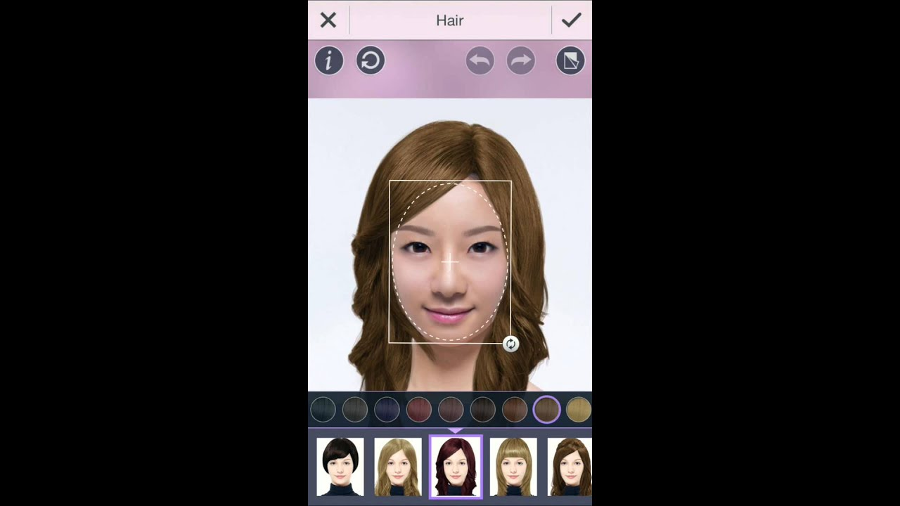 hair styles app youcam makeup hair style feature try out a new 3507
