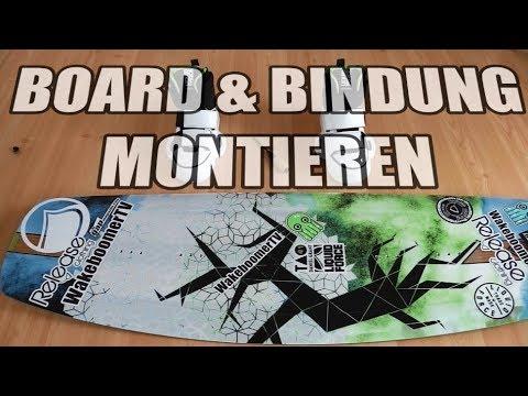 Board & Bindung Montieren | Stance | Finnen | Wakeboard Tutorial