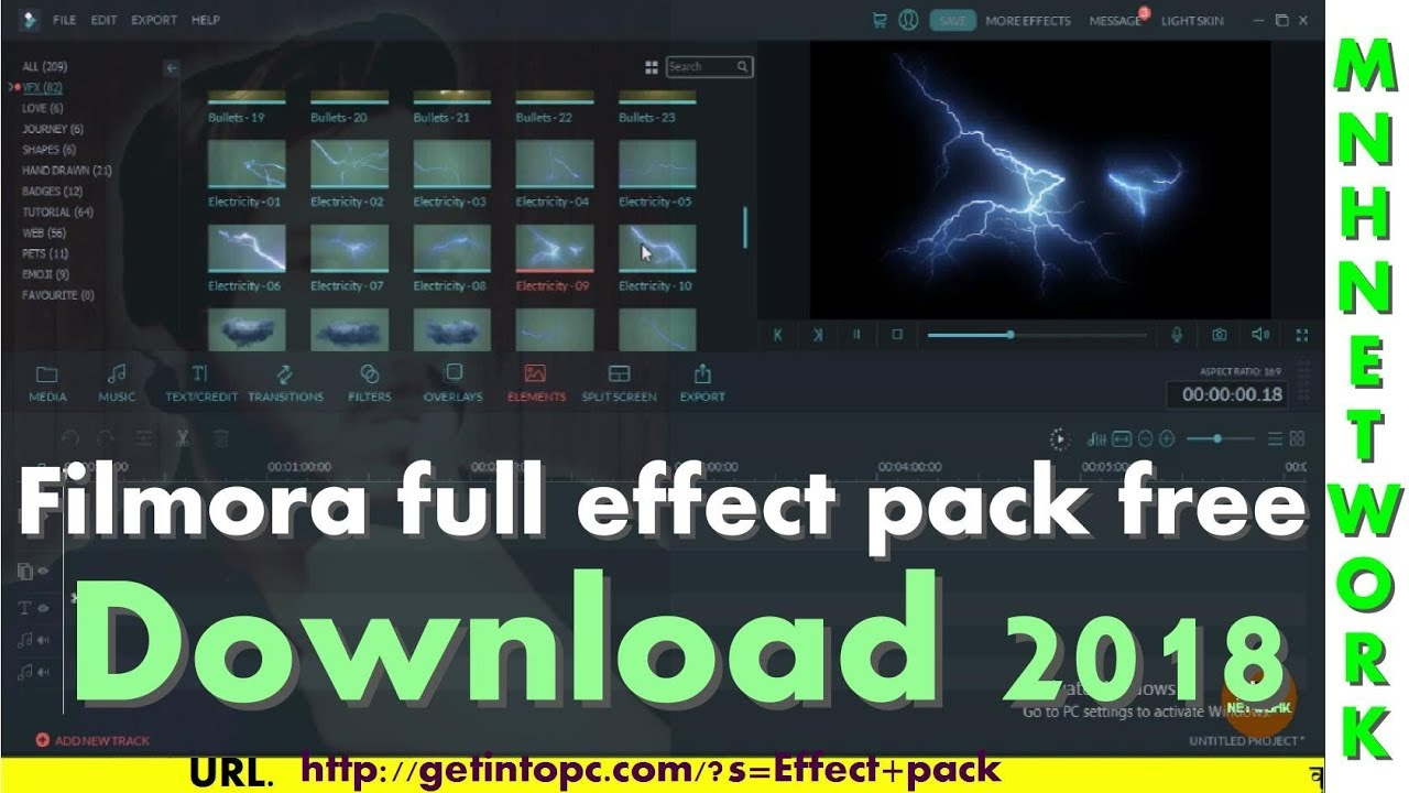 filmora effects pack free download 2018