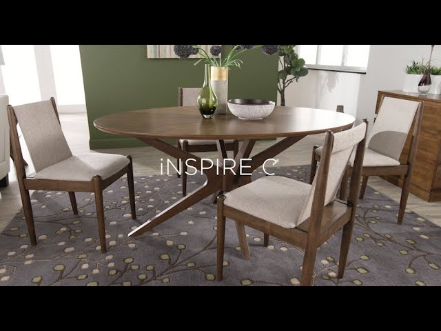 Rondo Walnut Finish Oval Dining Set (5PC) by iNSPIRE Q Modern