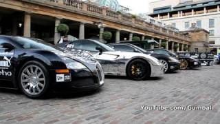 The start grid of the Gumball 3000 - Covent Garden, London - 1080p HD