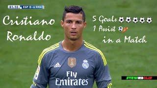 Cristiano Ronaldo ● 5 Goals & 1 Assist in a Match ● Simply Unstoppable ● 1080i HD #CristianoRonaldo