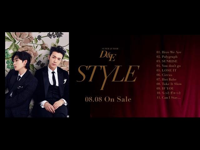 SUPER JUNIOR-D&E / 8月8日リリースアルバム「STYLE」全曲ダイジェスト