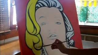 Marilyn Monroe ( POP ART - Comic Speed Painting Time Lapse)