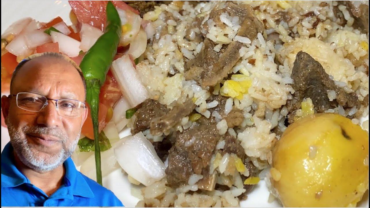 বুইড়া খাসী দিয়া ফাঁকিবাজ কাচ্চি বিরানি রেসিপি    Easy Kacchi recipe in Pressure Cooker. English Sub.
