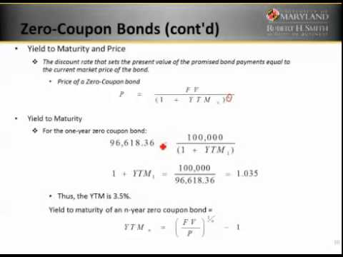 Yield To Maturity Calculator Zero Coupon