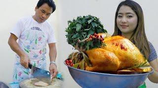 Koos loos ulias cooking xyaum ncu qaib(ไก่ใต้น้ำ)
