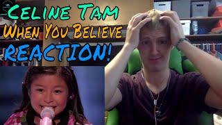 "Celine Tam: 9-Year-Old Sings Power Ballad ""When You Believe"" REACTION!"