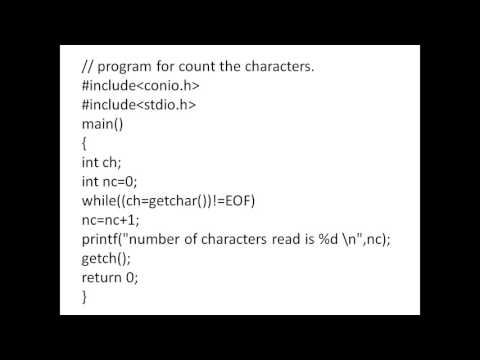C PROGRAM -COUNT THE CHARACTERS AND LINES