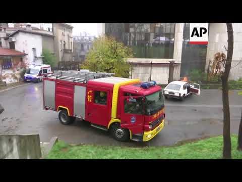 Serbian police hold anti terror drill in Belgrade