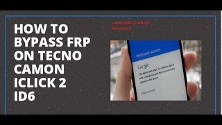 Tecno f1 google account bypass android 81 new method