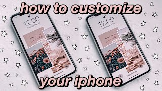 how to customize your iphone aesthetic wallpapers organization tips etc YouTube