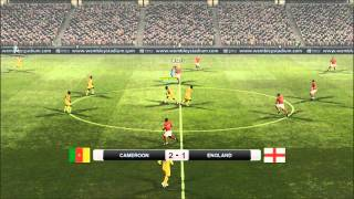 PES 2011 PC Gameplay Multiplayer Cameroon vs England