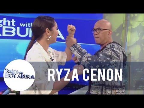 Ryza Teaches Boy Abunda Some Fighting Moves   TWBA