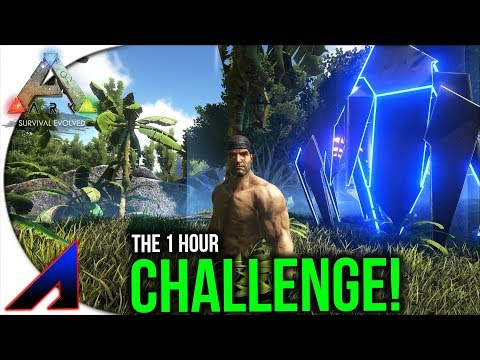Raw/Unedited Ark 1 Hour Challenge! | Solo Life Official PvP Servers | ARK: Survival Evolved | Ep 52