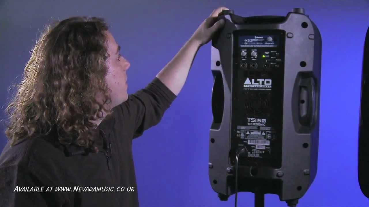 Alto Truesonic 800 Watt Wireless Bluetooth DJ and PA Speakers
