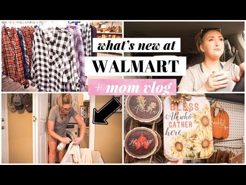 WHAT'S NEW AT WALMART | FALL DECOR + CLOTHES | MOM VLOG