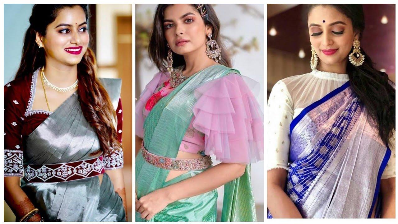 60 Latest Pattu Saree Blouse Design Catalogue Of 2020 New Pattu Saree Blouse Designs 2020 Youtube