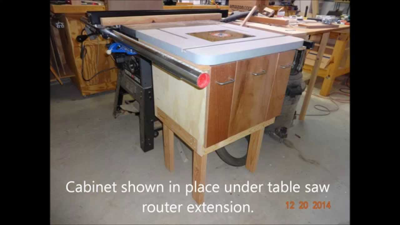 Table saw extension router cabinet youtube table saw extension router cabinet keyboard keysfo Images