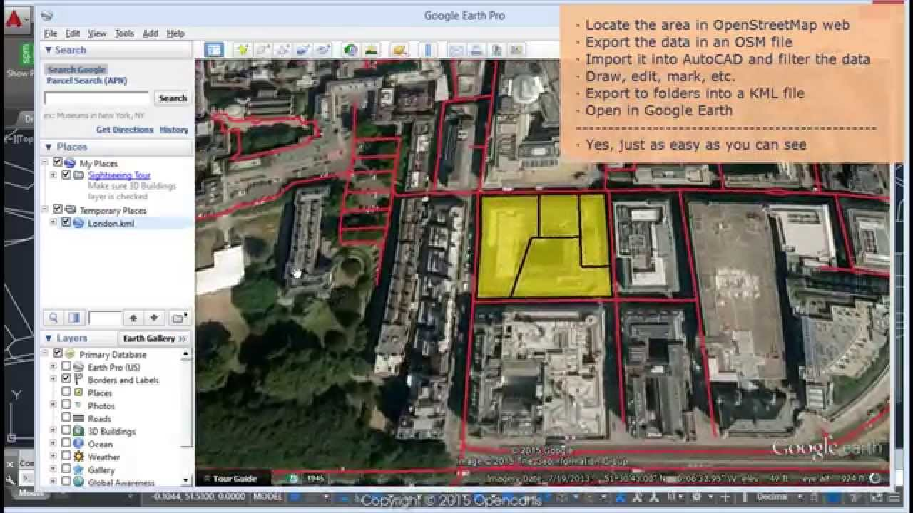 OpenStreetMap data  Edit and export to Google Earth (AutoCAD) - Spatial  Manager™ Blog