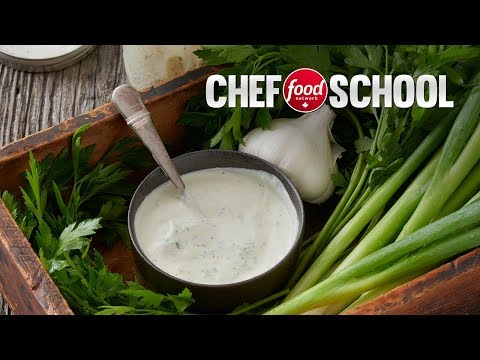 The Best Herb and Garlic Creamy Dressing | Chef School