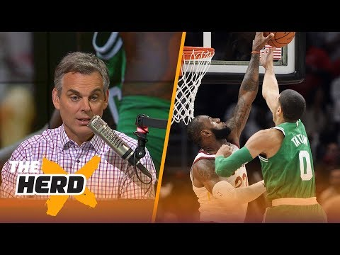Colin Cowherd reacts to Cleveland's night win over the Boston Celtics  THE HERD