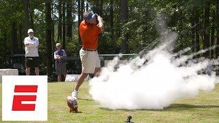 Dabo Swinney pranks Dan Mullen with exploding golf-ball-trick | ESPN