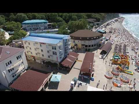 Гостиница Баязет в п. Новомихайловский. Аэросъемка
