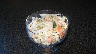 Салат с кальмарами и рисом. Салат с кальмарами и картофелем.