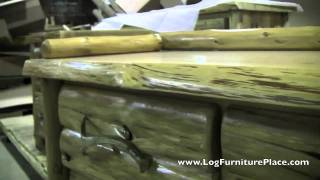 Cedar Lake Logger Deacon's Bench | Cabin Dressers at JHE's Log Furniture Place