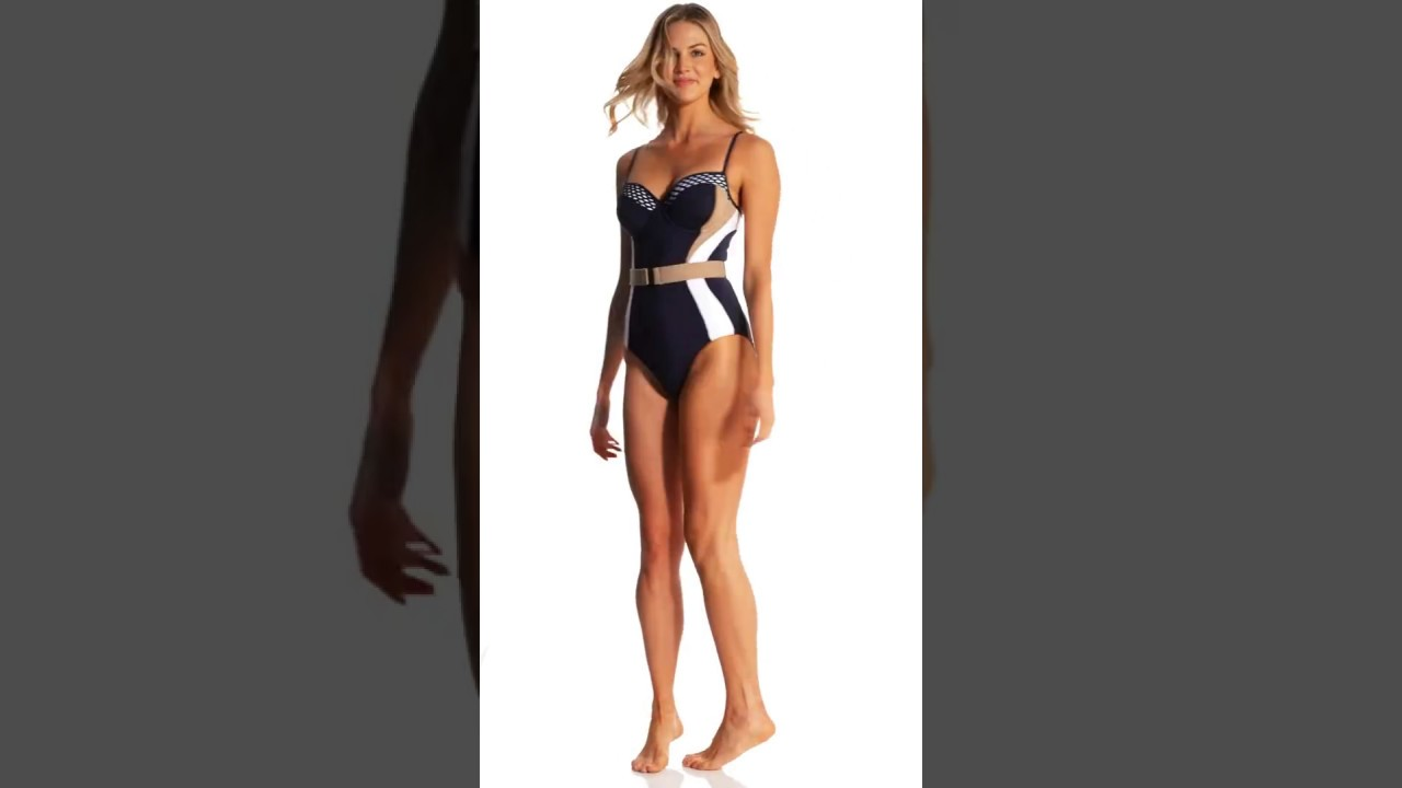 4ada47658abe JETS by Jessika Allen Deluxe Colorblock One Piece Swimsuit (D Cup) |  SwimOutlet.com