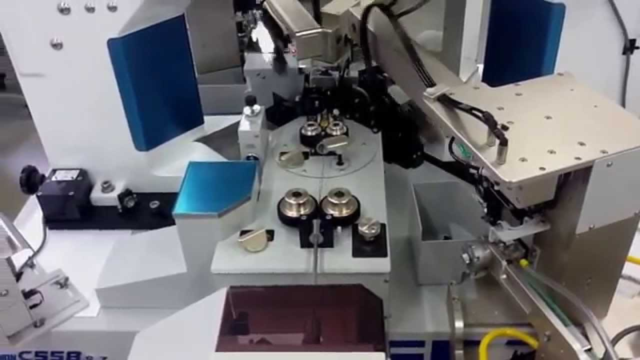 C558 Automatic terminal crimping and wire seal insert machine - YouTube