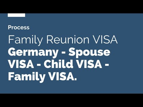 The Fastest process for family reunion visa for Germany