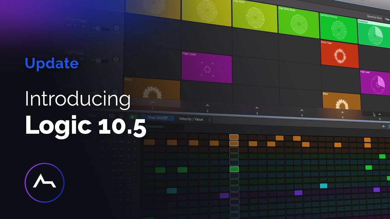 Logic Pro X 10 5 Update Live Loops Sampler Quick Sampler Step Sequencer Drum Machine Designer Youtube