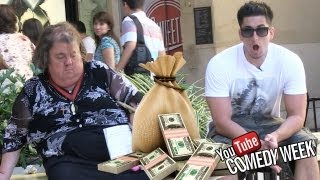 MONEY BAG PRANK w/ TOM GREEN