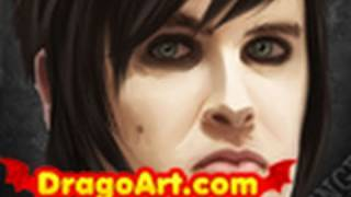 How to Draw the Rev, Avenged Sevenfold, The Rev,Step by Step