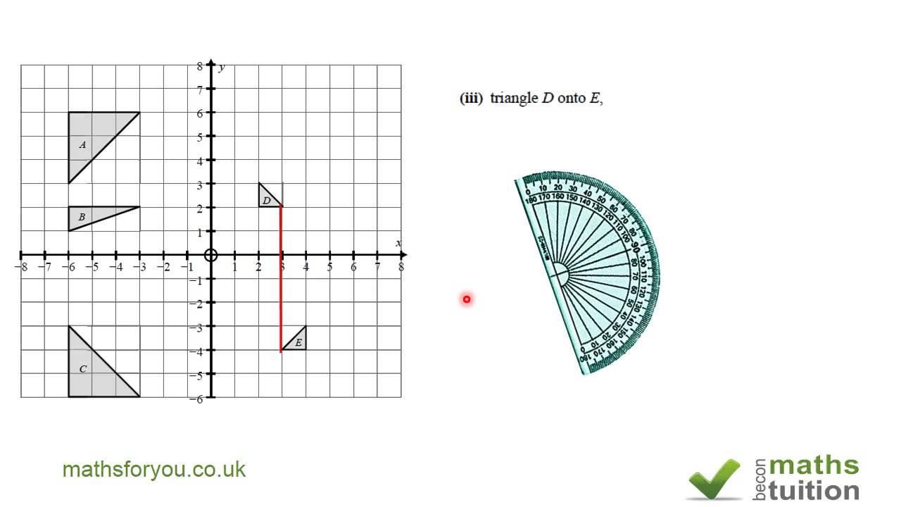 Transformation and Matries, GCSE, iGCSE Math, 10thgrade Math, CXC ...