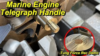 SNS 336: Machining a Bronze Telegraph Handle, Tung Force Rec Insert Mill, Bandsaw Blade Change