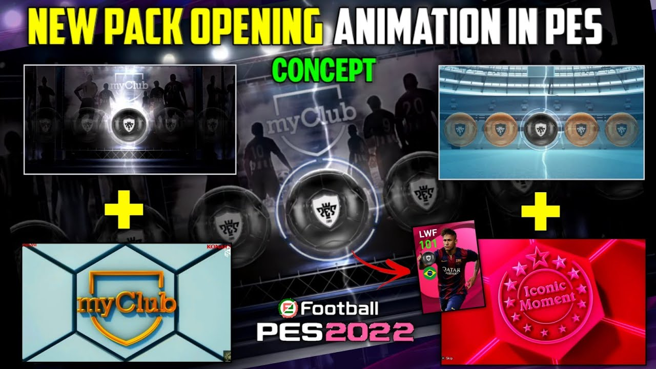 NEW PACK OPENING ANIMATION IN PES 🤩 | CONCEPT | BALL DRAW + ANIMATION | PES MOBILE