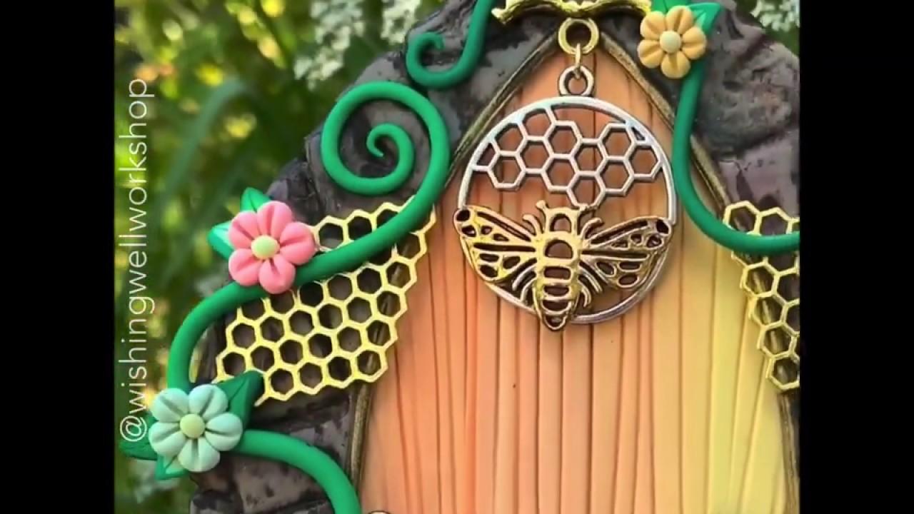 Polymer Clay Bumblebee Pixie Door