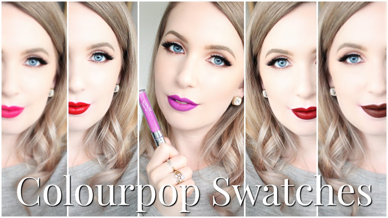 Colourpop Ultra Matte Lip Swatches For Pale Skin Youtube