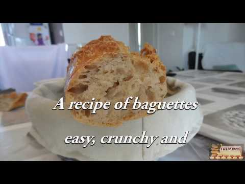 How to make french baguettes at home ? French bread - English Version - EN - Made At Home
