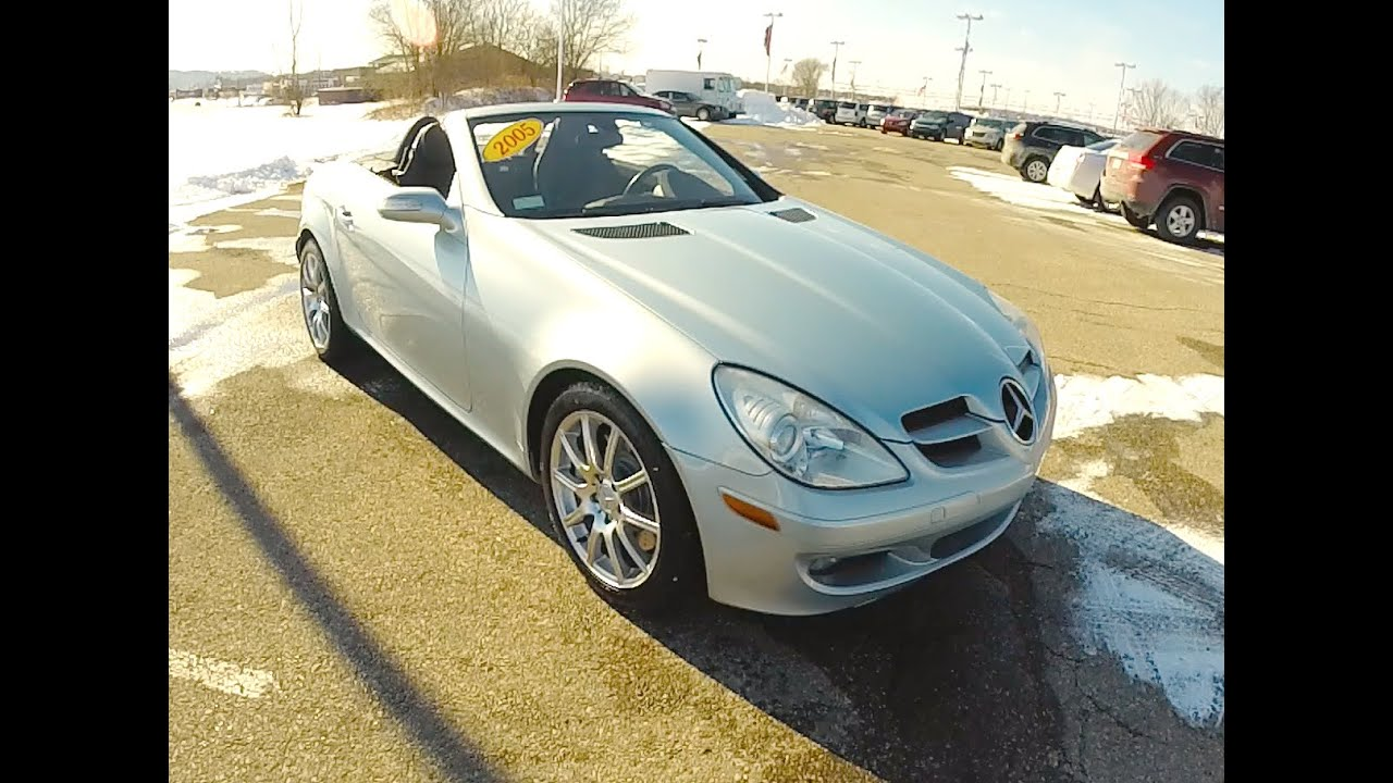 2005 mercedes benz slk 350 silver sports car 2 seater for Mercedes benz two seater